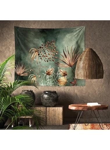 Eponj Home Tapestry Duvar Örtüsü 120x145 cm Palm KoyuYeşil Yeşil